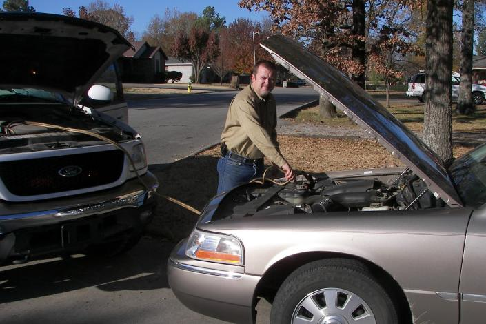 [Image: Davenport's Locksmith & Roadside Service is there when you need a jump start on your dead battery. ]